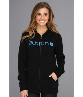 Burton Her Logo Full Zip Hoodie Womens Fleece (Black)
