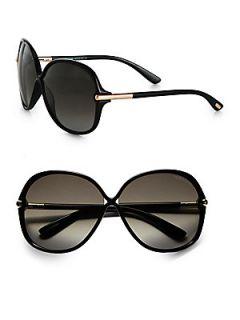 Tom Ford Eyewear Islay Round Sunglasses   Black
