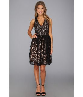 French Connection Daisy Chain Lace 71AHD Womens Dress (Black)