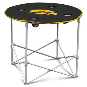 Iowa Hawkeyes Logo Chair Round Folding Table