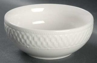 Pfaltzgraff Weave Coupe Cereal Bowl, Fine China Dinnerware   Traditions,All Whit