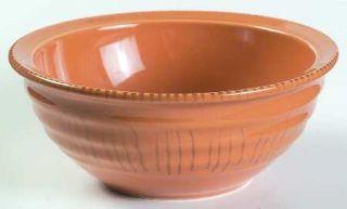Gibson Designs Basic Living V Saffron Soup/Cereal Bowl, Fine China Dinnerware