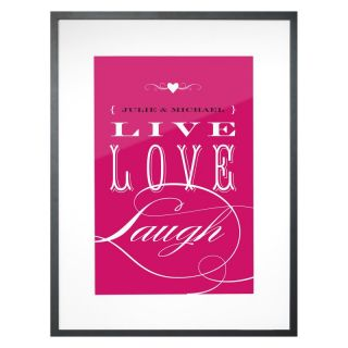 Checkerboard Ltd Live Love Laugh Personalized Framed Wall Decor   18W x 24H in.