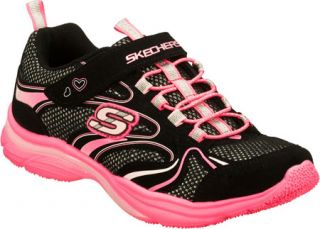 Infant/Toddler Girls Skechers Lite Kicks Sprinterz   Black/Neon Pink Sneakers
