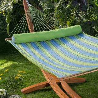 TwoTree Hammocks Parrot Stripe Dura Weave Quilted Hammock Multicolor   DPQK5513