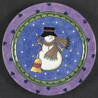 Sango Sweet Shoppe Christmas Salad Plate, Fine China Dinnerware   Sue Zipkin,Sno