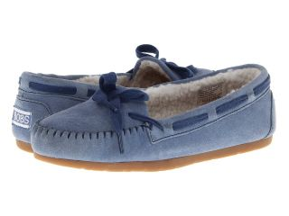 BOBS from SKECHERS Bobs Lux   Hugs Kisses Womens Moccasin Shoes (Blue)