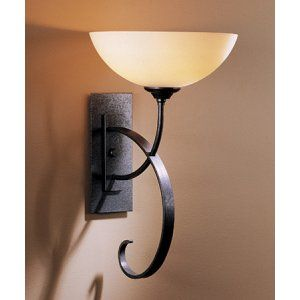 Hubbardton Forge HUB 204522 20 G16 Scrolled Taper Sconce Scroll Taper with Glass