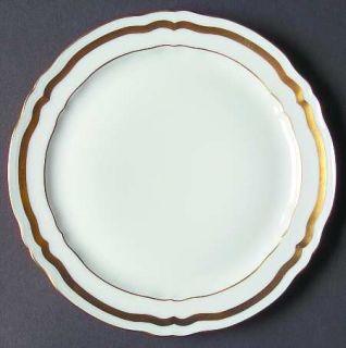 Ceralene Marie Antoinette (Gold) Salad Plate, Fine China Dinnerware   Wide Gold