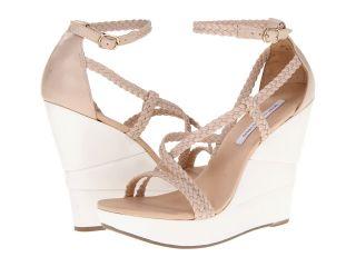Diane Von Furstenberg Olive Womens Wedge Shoes (Beige)