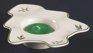Spode Christmas Tree Green Trim Votive Candleholder, Fine China Dinnerware   New