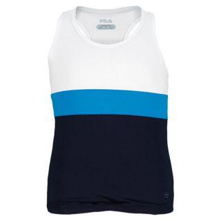 Fila Girls` Heritage Racerback Tennis Tank Xsmall White