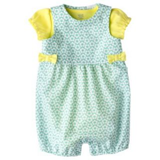 Just One YouMade by Carters Newborn Girls Romper Set   Yellow/Turquoise NB