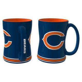 Boelter Brands NFL 2 Pack Chicago Bears Relief Mug   15 oz