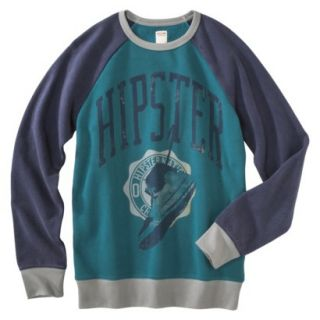 Mossimo Supply Co. Mens Long Sleeve Fleece   Turquoise Hipster L