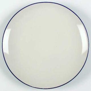 Alfred & Sapota Luna Blue Dinner Plate, Fine China Dinnerware   Blue Outside/Cre