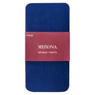 Merona Opaque Womens Tights   Blue S/M