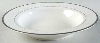 Nikko Vintage Lace Platinum Large Rim Soup Bowl, Fine China Dinnerware   Platinu