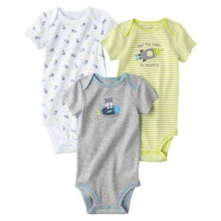Just One YouMade by Carters Newborn Boys 3 Pack Bodysuit   Yellow 18 M