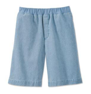 Vintage Denim Knit waist Shorts, Chambray, X Small
