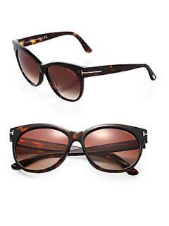 Tom Ford Eyewear Saskia Oversized Sunglasses   Havana Brown