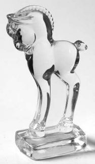 Heisey Heisey Animals & Figurines Clear Standing Colt   Crystal Figurines And Gi