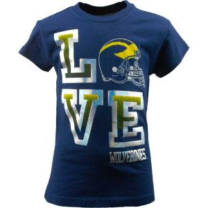 Michigan Wolverines NCAA Girls L.O.V.E. T Shirt