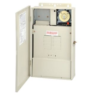 Intermatic T40004RT3 100A Pool/Spa/Light Control Panel with a 300W Transformer amp; 240V DPST Timer