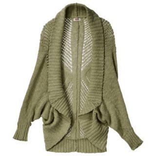 Mossimo Supply Co. Juniors Open Weave Cocoon Sweater   Tanglewood Green L(11