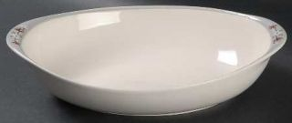Royal Doulton Frost Pine 10 Oval Vegetable Bowl, Fine China Dinnerware   White