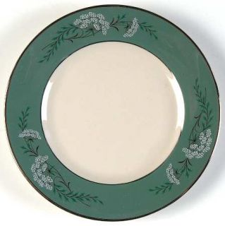 Fleetwood QueenS Lace Green Bread & Butter Plate, Fine China Dinnerware   Green