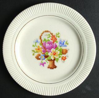 Salem Basket Pp (Gold Inner Ring) Bread & Butter Plate, Fine China Dinnerware