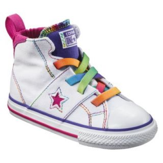 Toddler Girls Converse One Star High Top Sneaker   White 10