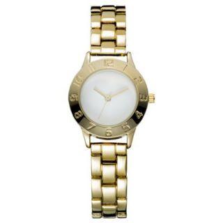 Womens Mossimo Mini Bracelet Analog Watch   Gold