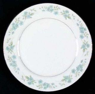 Fine China of Japan Cynthia Dinner Plate, Fine China Dinnerware   Blue Floral Ri