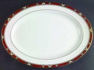 Royal Crown Derby Cloisonne 16 Oval Serving Platter, Fine China Dinnerware   Du