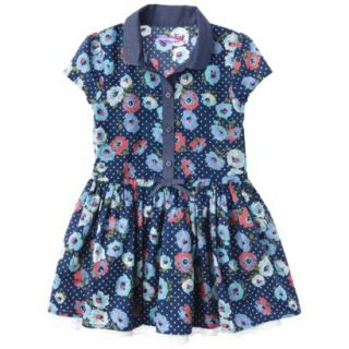Genuine Kids from OshKosh Infant Toddler Girls Shirt Dress   Deep Water 4T