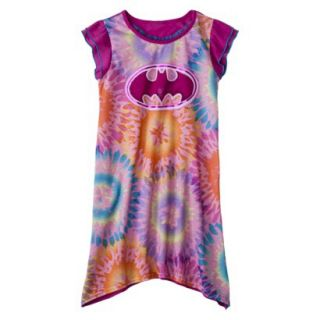 Batgirl Girls Short Sleeve Nightgown   Purple S