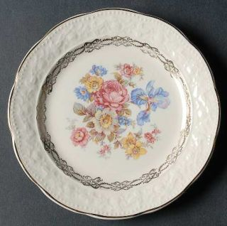 Edwin Knowles Kno260 Bread & Butter Plate, Fine China Dinnerware   Scallop,Embos