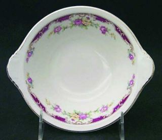 Edwin Knowles Lido Lugged Cereal Bowl, Fine China Dinnerware   Yellow/Pink Spray