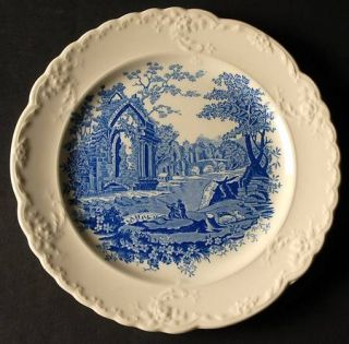 Taylor, Smith & T (TS&T) English Abbey Blue Salad Plate, Fine China Dinnerware