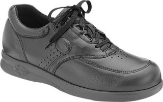 Mens Softspots Grand Prix   Black Leather Casual Shoes