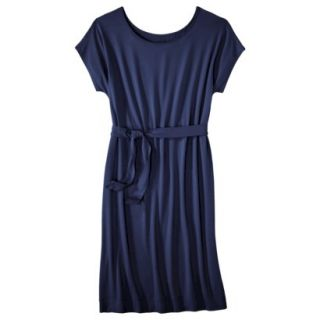 Merona Womens Knit Belted Dress   Xavier Navy   XXL