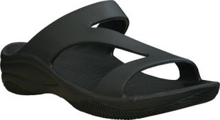 Womens Dawgs Z Sandal/Rubber Sole   Black/Black Casual Shoes