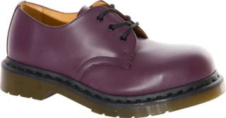 Dr. Martens 1925 5400 PW 3 Eye Steel Toe Shoe   Purple Smooth Casual Shoes