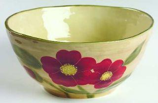 Ambiance Fleur Rustique 10 Large Salad Serving Bowl, Fine China Dinnerware   Na
