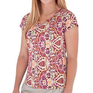 Royal Robbins Tadmor Jersey Shirt   Organic Cotton  Short Sleeve (For Women)   DARK CRIMSON (S )