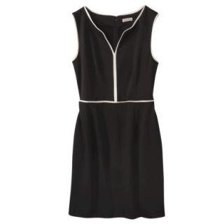 Merona Womens Ponte Dress   Black   S