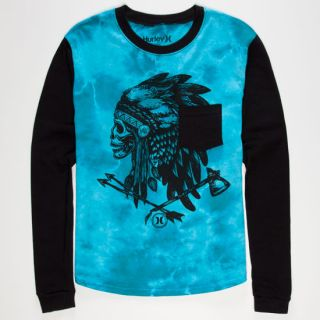 Navajo Project Boys Raglan Tee Atlantic Blue In Sizes Large, Small, X La
