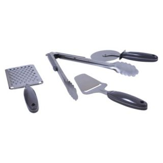 Natural Home 4 Piece Stainless Steel Kitchen Tool Set   Black